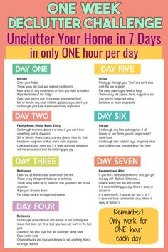 Your Home Challenge: 40 Bags in 40 Days - Does This Decluttering Challenge WORK Useful life organization hacks for decluttering your home with a declutter challenge.Useful life organization hacks for decluttering your home with a declutter challenge. House Cleaning Checklist, Household Cleaning Tips, Diy Cleaning Products, Cleaning Hacks, Daily Cleaning, New House Checklist, Deep Cleaning Tips, Spring Cleaning Tips, Spring Cleaning Schedules