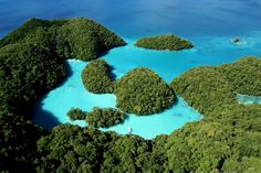 Islands of Palau in the North Pacific.