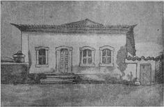 Desenho da 1ª casa da Aldeia de São Paulo em 1540.