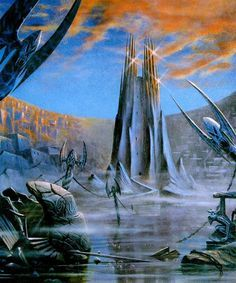 Orthanc, by Paul Monteagle Tolkien Books, Jrr Tolkien, Illustrations, Illustration Art, History Of Middle Earth, The Two Towers, Science Art, Science Fiction, Sci Fi Art