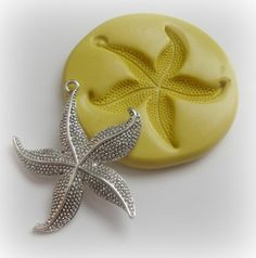 Starfish Pendant Mold Jewelry DIY Large Clay Resin by WhysperFairy, $6.95