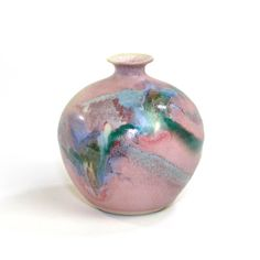 Pink MidCentury Style Teardrop Vase  Studio by OneRustyNail, $15.95