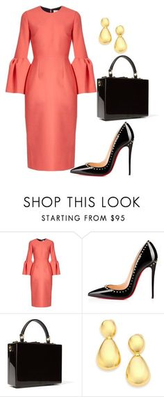 """style theory by Helia"" by heliaamado on Polyvore featuring moda, Roksanda, Christian Louboutin, Dolce&Gabbana e Kenneth Jay Lane"