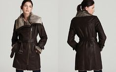 Marc New York Distressed Faux Shearling Coat
