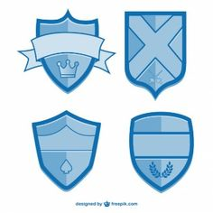 Vector shields free graphic elements
