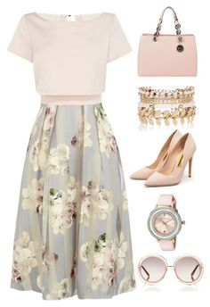 """Soft Pink"" by miniyafashion on Polyvore featuring Coast, Rupert Sanderson, MICHAEL Michael Kors, River Island, Ted Baker, Chloé, women's clothing, women, female and woman"