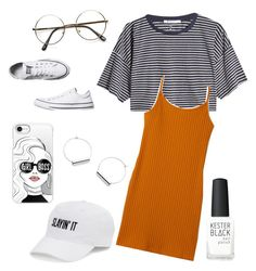 """""""Comfortable and simple."""" by beluuacevedo on Polyvore featuring T By Alexander Wang, Converse, Casetify, SO and Kester Black"""