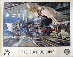 Poster produced for the London Midland and Scottish Railway (LMS) showing the locomotive City of Hereford undergoing Print Framed, Poster, Canvas Prints, Puzzles, Photo Gifts and Wall Art. Ships from UK Train Posters, Railway Posters, Vintage Advertising Posters, Vintage Travel Posters, Poster S, Poster Prints, Art Print, National Railway Museum, Poster