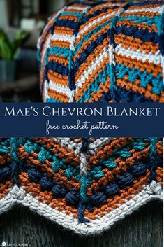 This gorgeous free chevron crochet pattern is for my dear friend Mae. I hope you love crocheting Mae's Chevron as much as I enjoyed designing it!