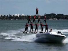 The Sarasota Ski-A-Rees provide a spectacular free water ski show thats alway fun for the whole family!