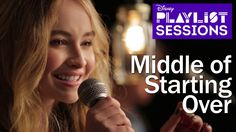 "Our performance of Sabrina's new single, ""Middle of Starting Over"", for Disney Playlist."