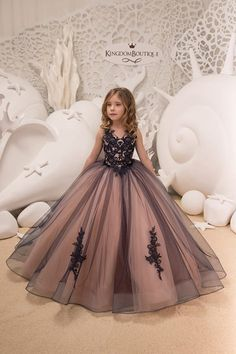 Navy and Pink Flower Girl Dress - Birthday Wedding Party Holiday Bridesmaid Flower  Girl Navy and Pink Tulle Lace Dress f4682ec2da40