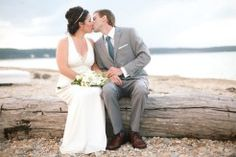 Wedding Kiss, Beach Wedding