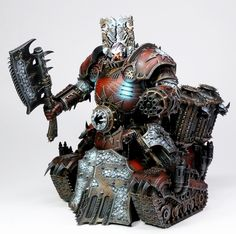 40k - Khorne Lord of Skulls by ThirdEyeNuke via taleofpainters.blogspot.co.uk