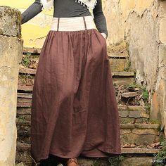 Ľanová sukňa Lesana