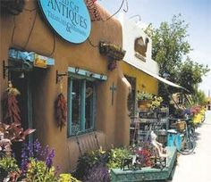 Downtown Taos, New Mexico antiques store. Met a French man here who had the most interesting collections.