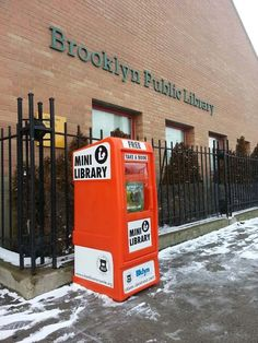 The Mini Libraries  Urban Librarians Unite is pleased to announce its own small network of little libraries. These bright orange newspaper boxes have been set up outside of libraries in Brooklyn and Queens which are closed due to damage from Hurricane Sandy. These tiny, all weather libraries house about a hundred books at a time and there is no expectation whatsoever that the books will come back to them.