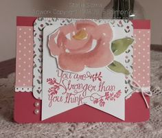 Stampin' & Scrappin' with Stasia: Stronger Than You Think - SU - Heartfelt Sympathy stamp set, English Garden designer series paper