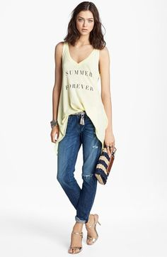 Wildfox Tank  AG Jeans  available at #Nordstrom