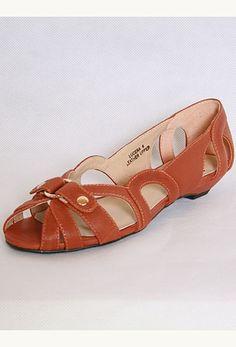 Cutout Ballet Peep Toe Flat