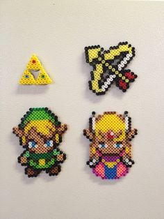 The Legend of Zelda perler magnet set by kiimberrr