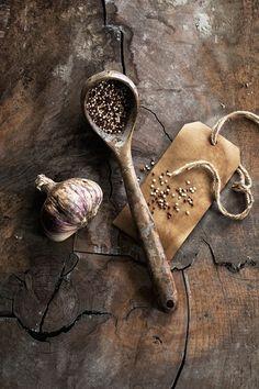 Quinoa und Knoblauch