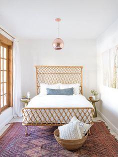 Sarah Sherman Samuel: dream bed, and rug... and throw pillows