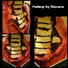 Sfx/Halloween makeup.. Torn throat