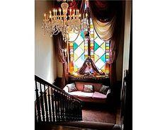 Rainbow stained glass windows circa 1800's. #nook #victorian