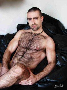 Naked hairy men showering 265
