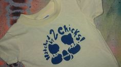 SALE Lesbian moms tshirt Hatched by 2 chicks by rainbowalternative, $6.99