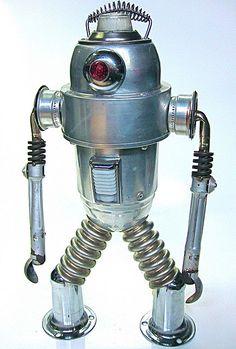Mr Fog found object robot sculpture   Flickr - Photo Sharing!