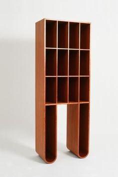 François Bauchet, Bookcase, for Neotu, 1997 Design Furniture, Cool Furniture, Contemporary Furniture, Contemporary Design, Modern Scandinavian Interior, Ceramic Workshop, Shelving Design, Prefabricated Houses, Table Design
