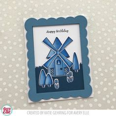 Avery Elle on Instagram: Katie Gehring card using Avery Elle Windmill stamp and die
