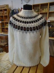 Icelandic sweater free pattern and Fair Isle Knitting Patterns, Sweater Knitting Patterns, Knit Patterns, Free Knitting, Vest Pattern, Free Pattern, Nordic Sweater, Icelandic Sweaters, Knit Crochet