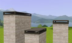 Gelina's Sims 3 Blog: Decorative Chimney Caps