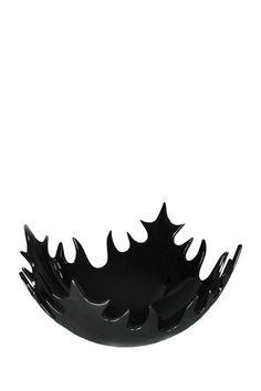 decorative black leaf bowl
