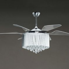 Silver Ceiling Fan With Light Suggestions