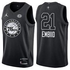 2018 All Star Game jersey  21 Joel Embiid Black jersey Eagles Super Bowl b62e707fc80