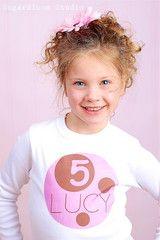 Number Birthday Kids Shirt Personalized T-shirt for Boys | FUNKY MONKEY THREADS #FMT #funkymonkeythreads #pinkandbrown