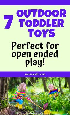 The best outdoor toddler toys should be simple, fun and ideal for open ended play. Here are 7 must have backyard toys for toddlers that are packed with learning benefits! Educational Activities For Toddlers, Summer Activities For Toddlers, Learning Toys For Toddlers, Activities For 2 Year Olds, Play Based Learning, Learning Through Play, Toddler Learning, Infant Activities, Toddler Preschool