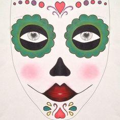 Sugar Skull Halloween Makeup Tutorial—INGLOT | Wink And Blush  #beauty #inglot #halloween