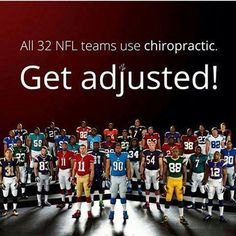 #GetAdjusted just like the #NFL football players!  www.jcchiro.com #ChiropracticWorks  #JohnsonCityChiropractor