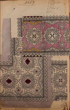 1863 - [French textiles] sample books by the Maison Robert firm, Paris; Ethnic Patterns, Textile Patterns, Textile Prints, Print Patterns, Japanese Patterns, Lino Prints, Floral Patterns, Block Prints, Design Textile