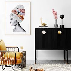 What a gorgeous space featuring Miss Willow by Brent Rosenberg (as seen in @kimandchris' guest bedroom!) Search 'Miss Willow' at http://ift.tt/1v9jaEU for details #9theblock http://ift.tt/2cIcwQl
