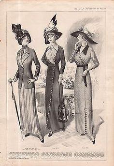 1912 Delineator Print - Taffeta and Terry Cloth Summer Dresses - Maud Humphrey   eBay