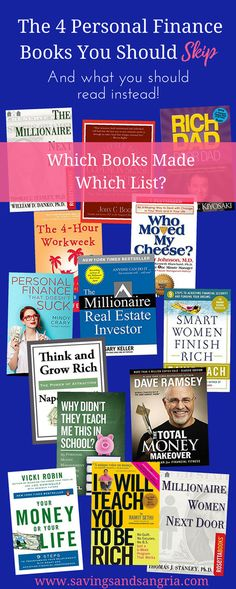 The 4 personal finance books you should skip and the 10 best financial books you should read instead