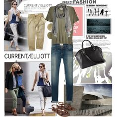 Celebrity Style - Current/Elliott by elena-starling on Polyvore featuring Current/Elliott, Mossimo, H&M and Zadig & Voltaire