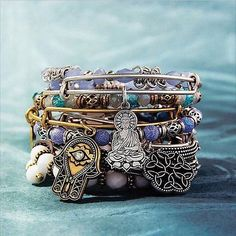 ALEX AND ANI Spring 2017 Collection | Path of Symbols Collection | ALEX AND ANI Charm Bangles | Cosmic Messages Collection | ALEX AND ANI Beaded Bangles