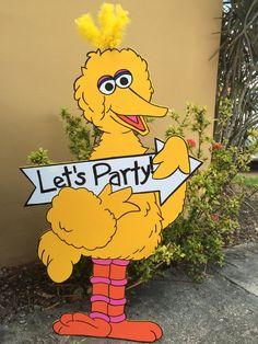Big Bird Cutout - Sesame Street Cutout - Sesame Street Party - First Birthday…